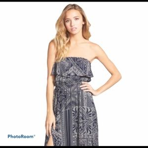 ELEMENT Whisk Away Strapless Maxi Dress Small